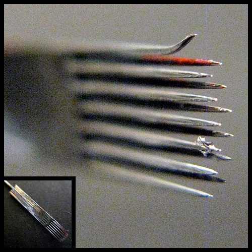 "#a240 :: ""Magnum"" 13-tip tattoo needle. October 11, 2008"